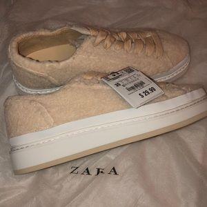 Zara Teddy Sneakers Shoes